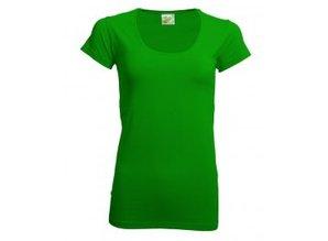 Hippe dames T-shirts (bodyfit), ronde hals en korte mouw!