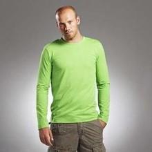 Trendy heren T-shirts met lange mouw en ronde hals (bodyfit)