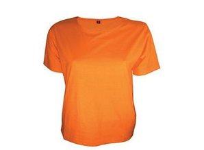 Modieuze licht getailleerde oranje dames T-shirts kopen?