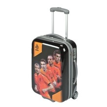 Funny Holland collectie 2018 │ KNVB Topvoetballers koffer (55 x 34 x 20 cm) lichtgewicht koffer van 2,5 kg met print van KNVB logo en bekende topspelers uit het Nederlands elftal