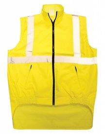 ♣ Veiligheidsjacks met rits met reflectorstrepen in de kleur fluor geel (universele maat)