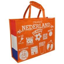 Oranje boodschappentassen (shopper) afmeting 45 x 36 x 15 cm