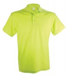 Goedkope heren Poloshirts in de kleur lemon (lichtgroen, polo pique, 100% katoen)
