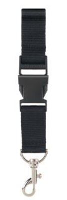 ♣ Keycords! Lanyards in de kleur zwart (2,5 cm breed)