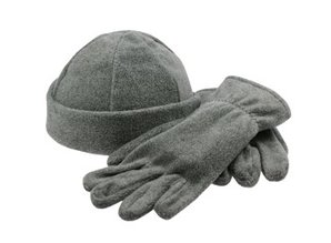 ♣ Fleeceset (1 muts en 1 paar handschoenen)
