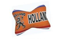 Funny Holland collectie 2017 │ Kussen met Hollandse leeuw in typische Hollandse kleuren oranje, rood, wit en blauw (afmeting 30 x 20 cm)