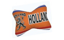 Funny Holland collectie 2018 │ Kussen met Hollandse leeuw in typische Hollandse kleuren oranje, rood, wit en blauw (afmeting 30 x 20 cm)