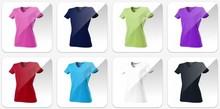 Rom '88 │ Getailleerde dames T-shirts met V-neck (190 gr/m2) 100% gekamd katoen