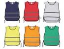 Goedkope reflecterende trainingsvesten / overgooiers (geschikt voor kinderen en volwassen vanwege de snede en pasvorm)