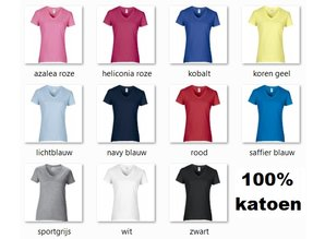 ♣ Fair Trade dames T-shirts met V-hals (slank gesneden)