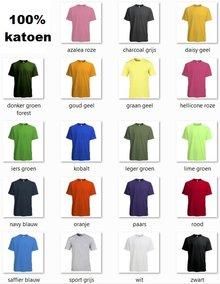 ♣ Slank gesneden Fair Trade Uniseks T-shirts (100% katoen, met korte mouw en ronde hals)