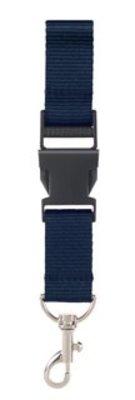 ♣ Keycords! Lanyards in de kleur donkerblauw/navy (2,5 cm breed)