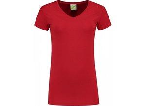 Moderne dames T-shirts (bodyfit) met V-hals en korte mouw