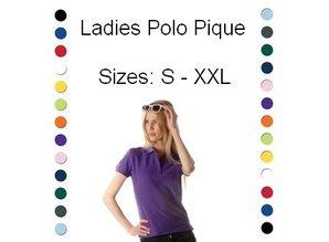 ♣ 100% katoenen Poloshirts (polo pique)