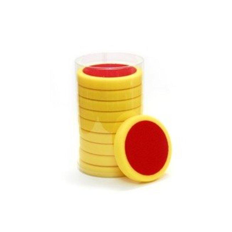 Eigen Merk Poetspad 150x25mm plat geel hard pak a 10 stuks