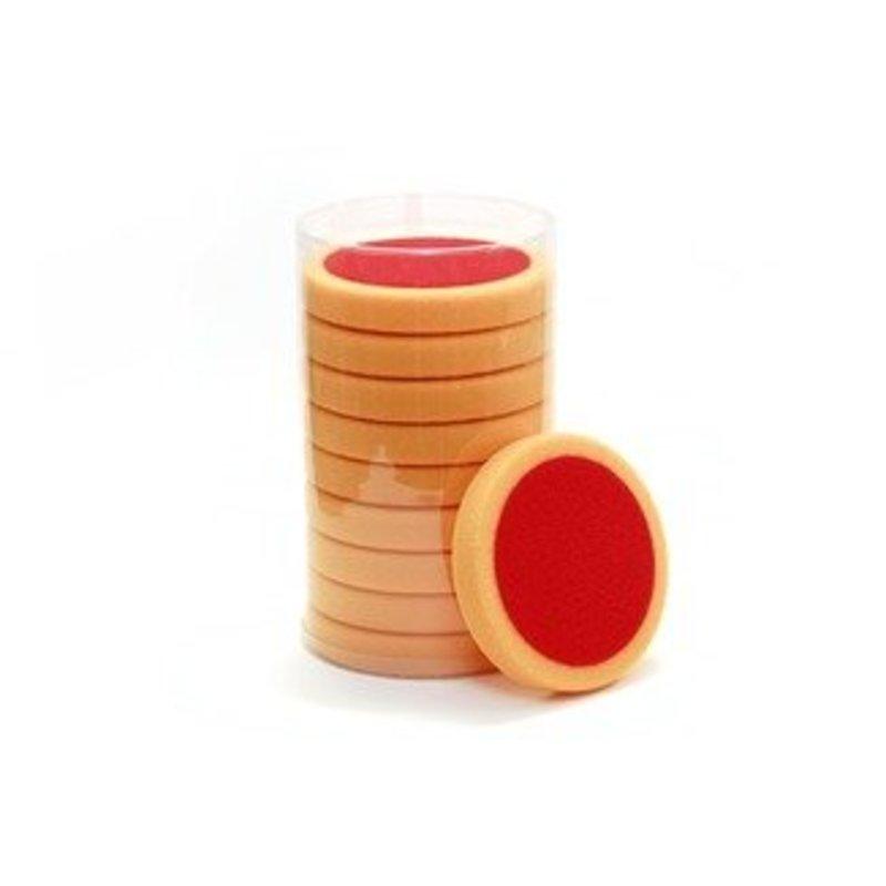 Eigen Merk Poetspad 150x25mm plat oranje zacht pak a 10 stuks