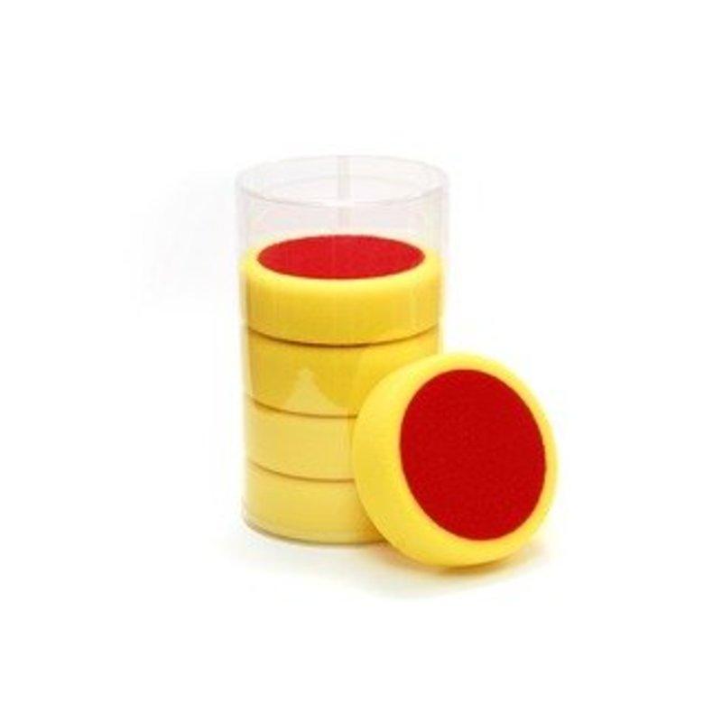 Eigen Merk Poetspad 150x50mm geel hard pak a 5 stuks