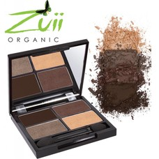 Zuii Organic Quad Eyeshadow Palette Natural