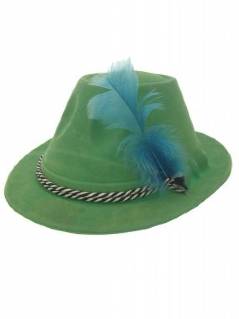 Tyrolean Hat Tyrolean hat green velvet. article number: 74405 ...