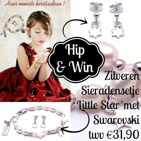 Winnen! Zilveren sieradensetje 'Little Star' met Swarovski