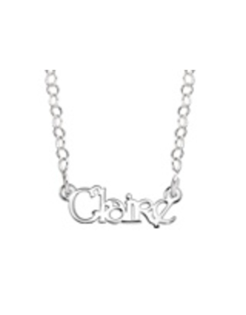 KAYA sieraden Zilveren naamketting voor kleine dames (35 cm), model Claire