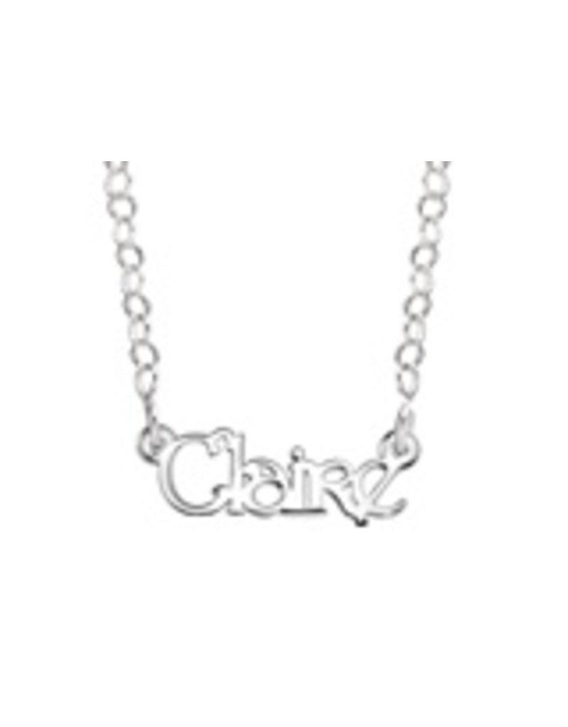Zilveren naamketting voor kleine dames (35 cm), model Claire