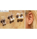 Silver earrings 'choose your size: 3, 5 or 7 mm'