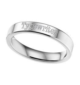 KAYA sieraden Text Ring 4mm steel engraving * free *