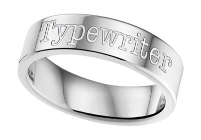 KAYA sieraden Text Steel Ring 6mm * Free engraving *