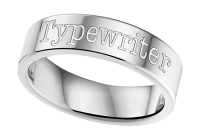 Text Steel Ring 6mm * Free engraving *