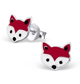 KAYA sieraden Silver earrings 'foxes'