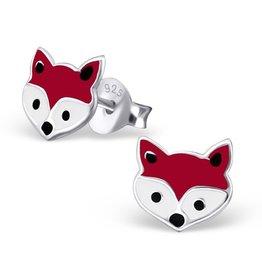 Zilveren oorbellen 'vosjes'