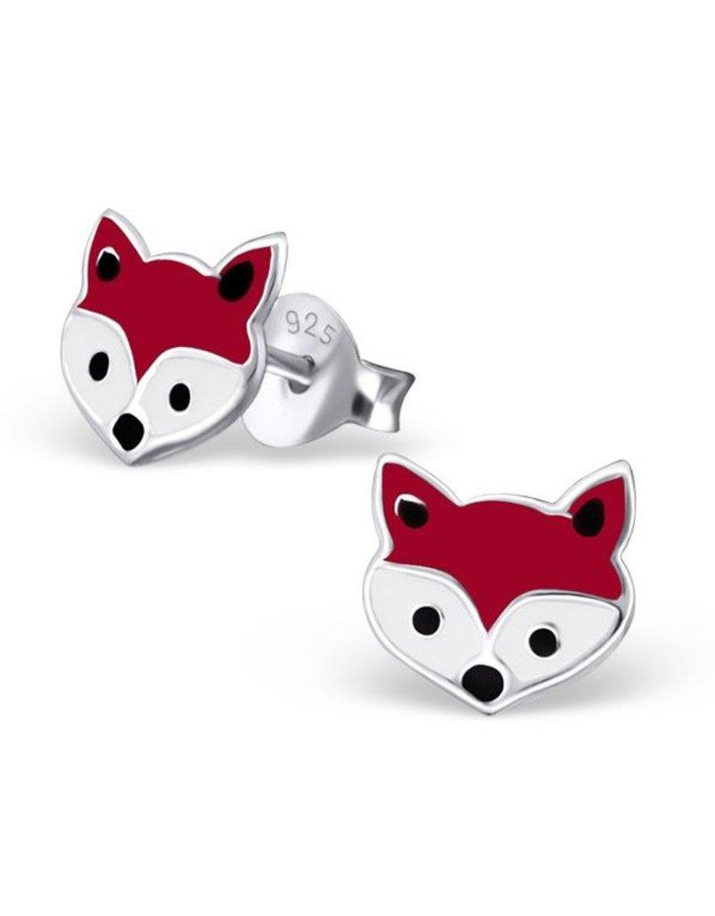 KAYA sieraden Zilveren oorbellen 'vosjes'