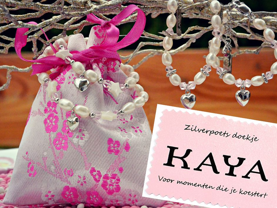 KAYA sieraden Mom & Me set 'Pink Princess' key to your heart