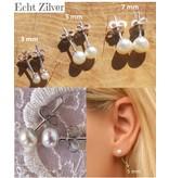 KAYA sieraden Zilveren communie armbandje 'Little Diva' met crystal kruisje