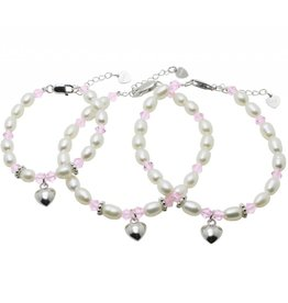 "KAYA sieraden 3rd generation silver bracelets ""Little Diva"" with heart"