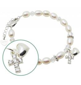 KAYA sieraden Zilveren geloofsarmbandje 'Sparkles de Luxe'