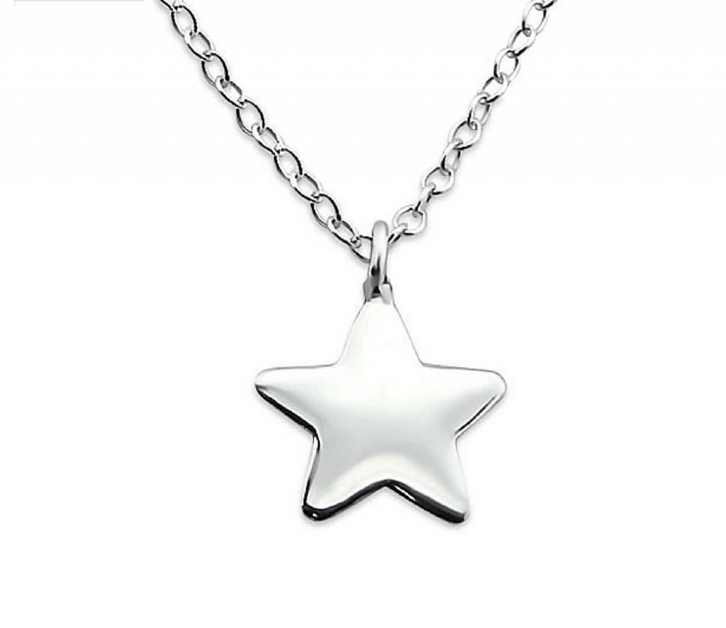 KAYA sieraden Silver necklace 'Little Star'