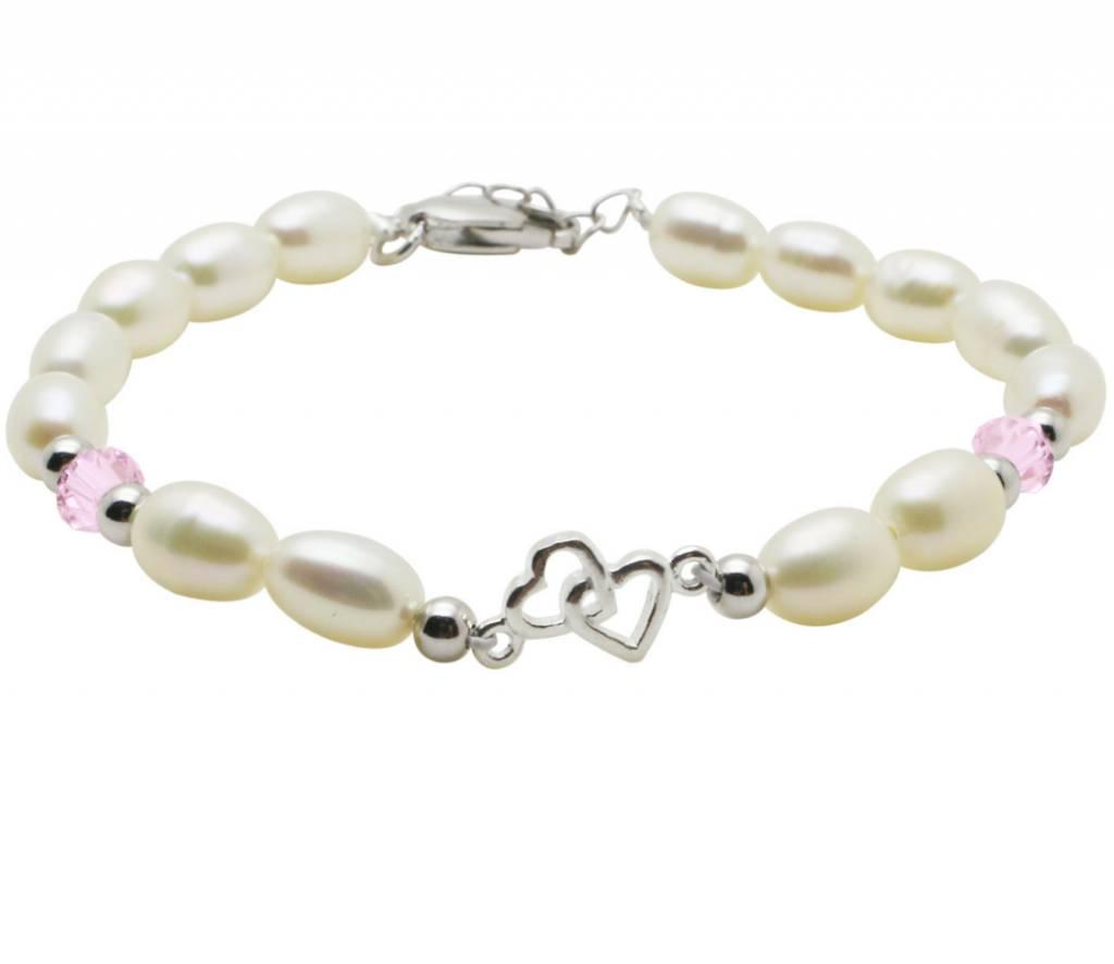 KAYA sieraden Silver bracelet children's 'You & Me Forever'