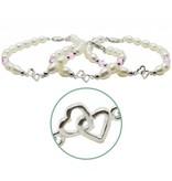 KAYA sieraden Zilveren 3 generatie armbanden 'you & me forever'