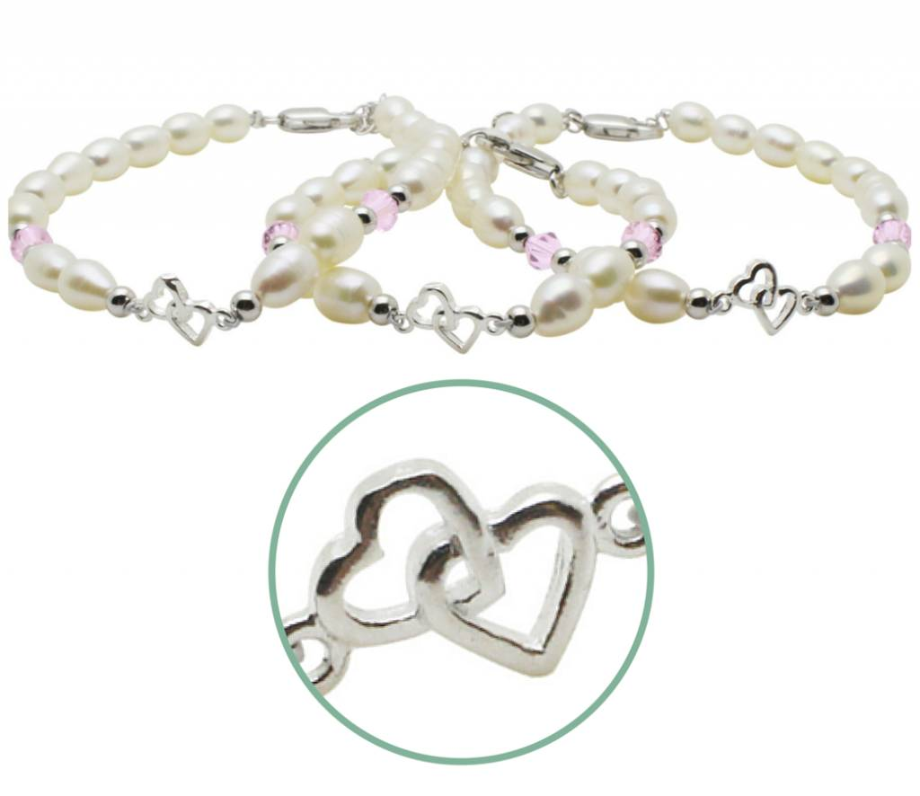 Silver bracelets third generation 'you & me forever'