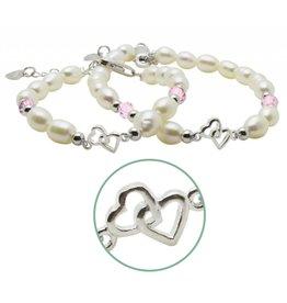 KAYA sieraden Silver Mom & Me bracelets 'you & me forever'