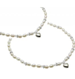 KAYA sieraden Mom & Me chains 'Infinity White' sphere center