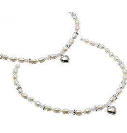 KAYA sieraden Mom & Me chains 'Infinity White' sphere center