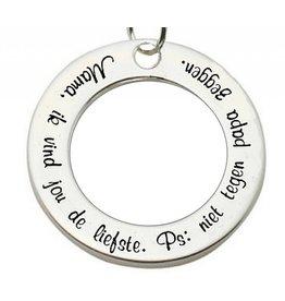 KAYA sieraden ★ SALE ★ Zilveren hanger 'Mama. Ik vind jou de liefste...'