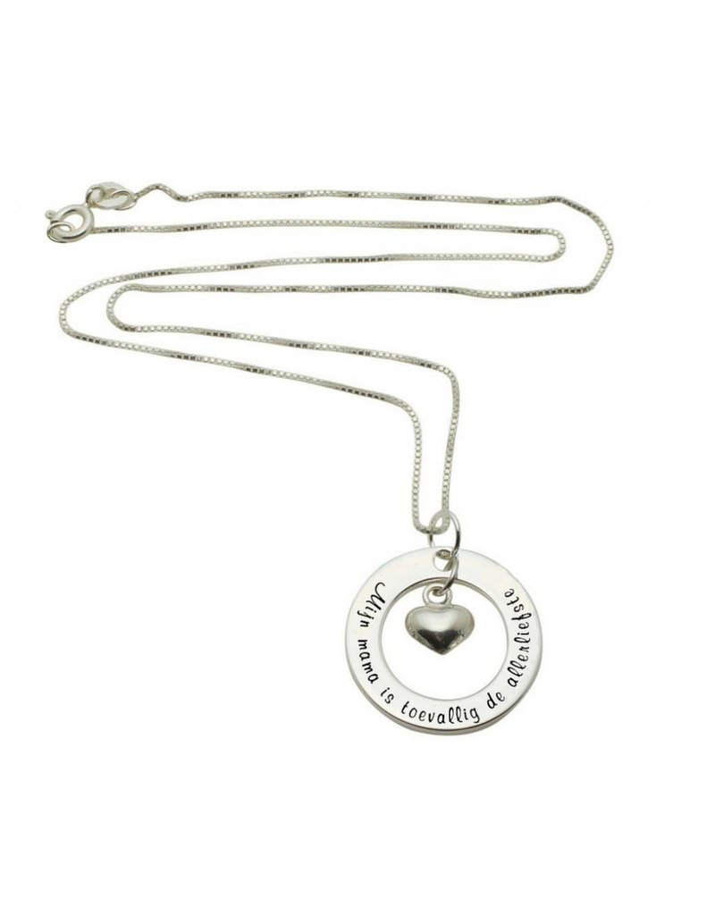 "KAYA sieraden Silver necklace ""My mom happens to be the dearest '"