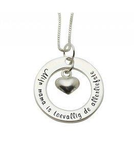 KAYA sieraden ★ SALE ★ Zilveren ketting 'Mijn mama is toevallig de allerliefste'