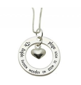 "Silver necklace ""The love between mother and son ... '"