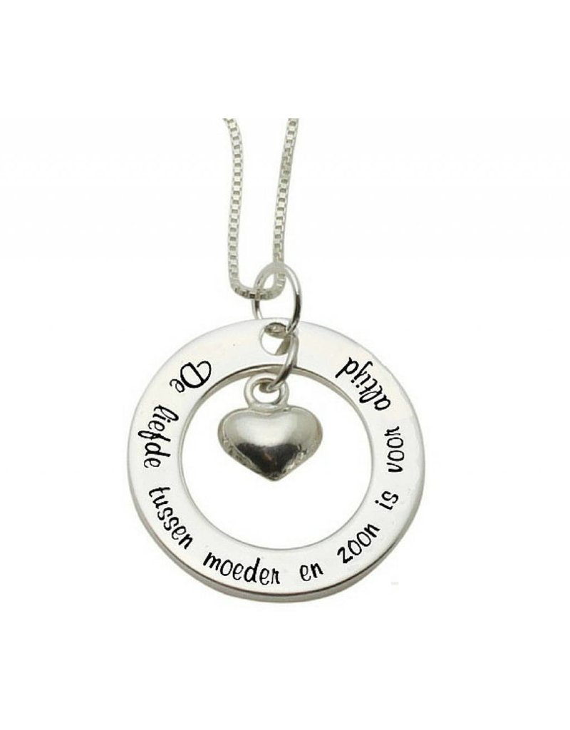 "KAYA sieraden Silver necklace ""The love between mother and son ... '"