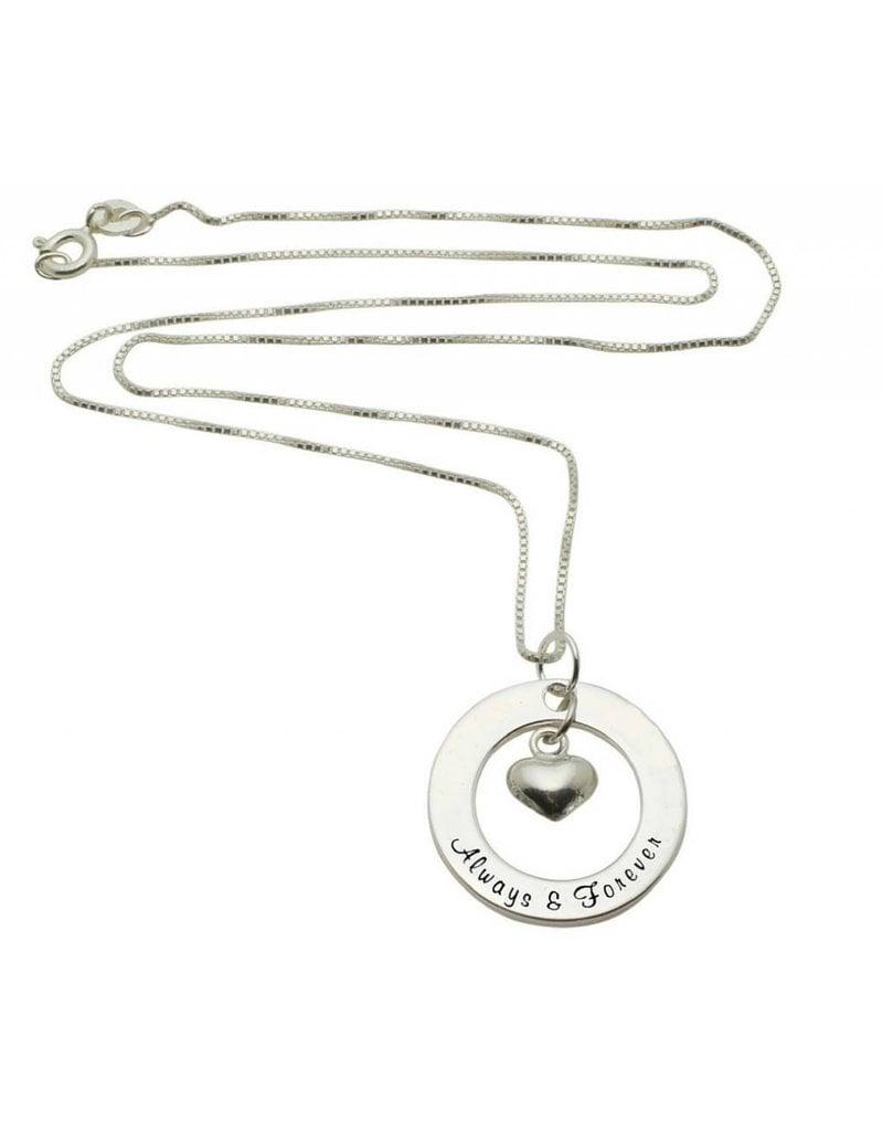 Zilveren ketting 'Always & Forever'